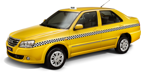taxi mercedes yellow car